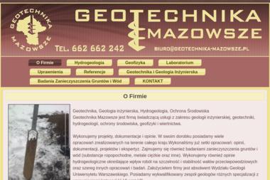 Geobud Prace geologiczne dla budownictwa - Geotechnika Warszawa