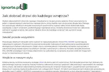 IGNARTE Studio Architektury - Adaptacja projektów Świdnica