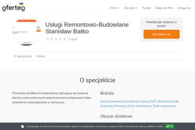 Usługi Remontowo-Budowlane Stanisław Batko - Domy szkieletowe Myślenice