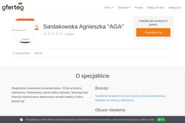 """Sardakowska Agnieszka """"AGA"""" - Firmy odzieżowe Dębno"""