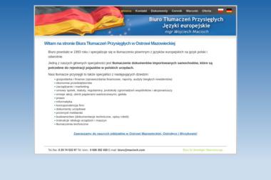 Biuro Tłumaczeń Przysięgłych Wojciech Macioch - Tłumacz Języka Angielskiego Ostrów Mazowiecka