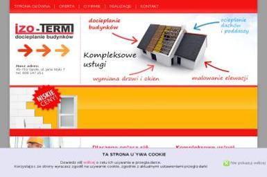 IZO-TERM - Ocieplanie budynków Opole