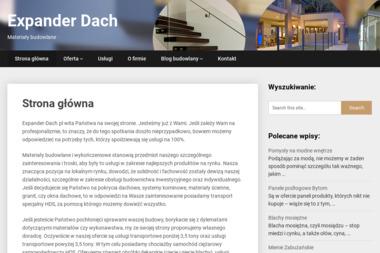 EXPANDER-DACH - Okna drewniane Gorzów Wielkopolski