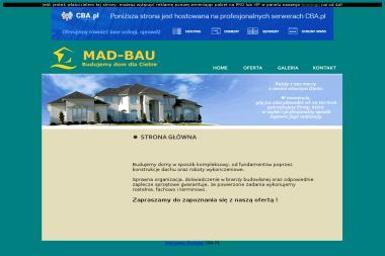 F.H.U MAD-BAU - Elewacja Domu SZCZEPANOWICE