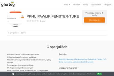PPHU PAWLIK FENSTER-TURE - Układanie kostki brukowej Tarnobrzeg