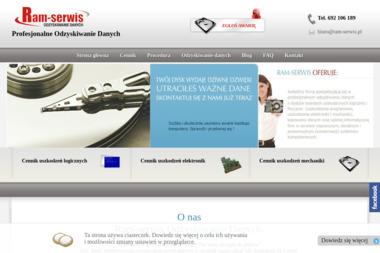 Ram-serwis Odzyskiwanie danych - Archiwizacja danych Poznań