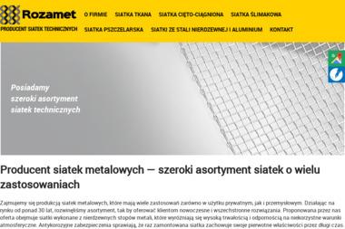 Rozamet - Produkcja Siatek Metalowych - Ogrodzenia panelowe Biłgoraj