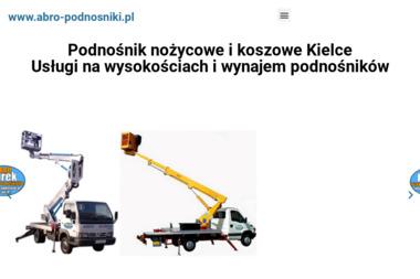Podnośniki koszowe Kielce nożycowe ABRO 508 184 788 do 26 m. - Budownictwo Inżynieryjne Kielce