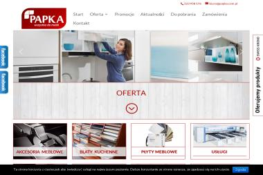 """Firma """"PAPKA"""" Papka Sławomir, Papka Mirosław s.c. - Meble Chojnice"""