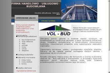 """Firma Handlowo-Usługowo-Budowlana """"VOL-BUD"""" - Budowa domów Uście Gorlickie"""