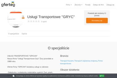 """Usługi Transportowe """"GRYC"""" - Firma transportowa Żory"""