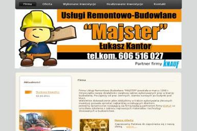 """Przedsiębiorstwo Handlowo-Usługowe ,,MAJSTER"""" - Tynki Maszynowe Opole"""