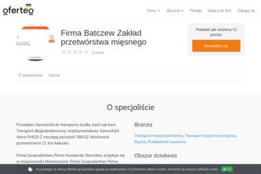 Firma Batczew Zakład przetwórstwa mięsnego - Myjnie Morawczyna