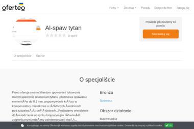 Al-spaw tytan - Obróbka metali Piaseczno