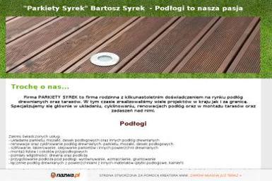 Firma PARKIET Syrek Bronisław - Renowacja Parkietu Poręba