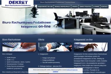 Biuro Racunkowo-Podatkowe DEKRET - Usługi finansowe CzĘSTOCHOWA