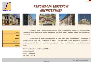 """Renowacja Zabytków Architektury """"SIMA"""" - Firma remontowa Częstochowa"""
