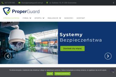 Proper Guard Spółka z o.o. - Systemy Alarmowe Sosnowiec