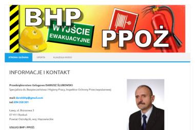 Przedsiębiorstwo Usługowe Dariusz Ślubowski - Kurs pierwszej pomocy Ławy
