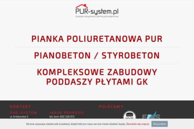 PUR-system - Ocieplanie poddaszy Rzeszów