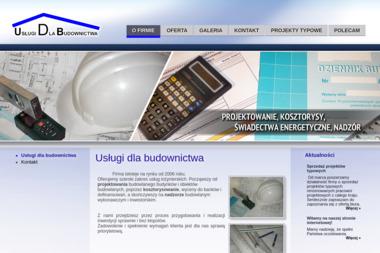 USŁUGI DLA BUDOWNICTWA Tomasz Ogrodowiak - Nadzór budowlany Kluczbork