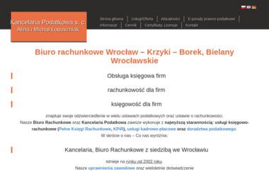 Kancelaria Podatkowa sc Alina i Michał Łopuszniak - Usługi podatkowe Wrocław