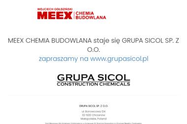MEEX Chemia Budowlana Wojciech Gołdziński - Chemia budowlana Chrzanów