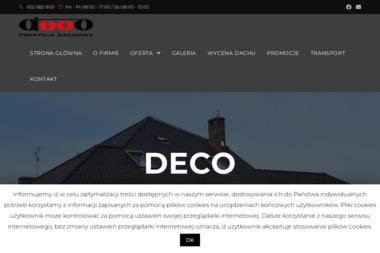 DECO - pokrycia dachowe - Dachy Częstochowa