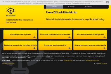 """Zakład Instalatorstwa Elektrycznego """"Lech Różański"""" - Alarmy BIÅ'goraj"""