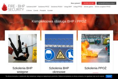 FIRE - BHP SECURITY - Szkolenia Cegłów