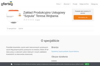 """Zakład Produkcyjno Usługowy """"Szpula"""" Teresa Wojtania - Szwalnia Bełchatów"""