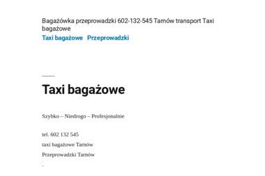 Przeprowadzki Transport 602132545 Tarnow - Firma transportowa Tarnow