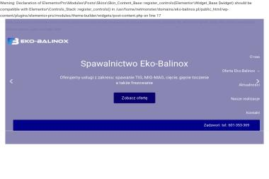 Eko-balinox s.c - Balustrady nierdzewne Kościan