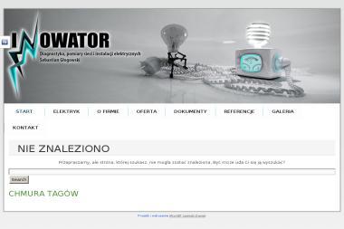 INNOWATOR Diagnostyka, pomiary sieci i instalacji elektrycznych. Sebastian Głogowski - Energia odnawialna Radom