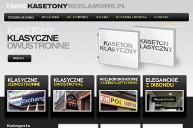 Tanie kasetony reklamowe - Projektowanie Logo Oborniki Śląskie