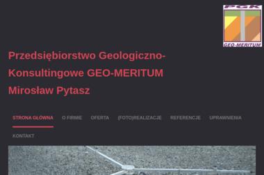 """PRZEDSIĘBIORSTWO GEOLOGICZNO-KONSULTINGOWE """"GEO- MERITUM"""" - Geolog DABROWA GÓRNICZA"""