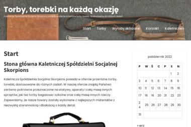 Kaletnicza Spółdzielnia Socjalna SKORPIONS - Szycie pokrowców Piotrków Trybunalski