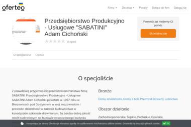 """Przedsiębiorstwo Produkcyjno - Usługowe """"SABATINI"""" Adam Cichoński - Budowa domów Gostynin"""