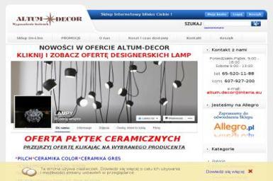 Altum-Decor Tomasz Chrzan - Wyposażenie łazienki Leszno