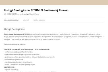 Usługi Geologiczne BITUMIN Bartłomiej Piskorz - Ocieplanie Pianką Węgierska Górka