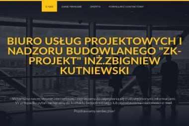 """BIURO USŁUG PROJEKTOWYCH I NADZORU BUDOWLANEGO """"ZK-PROJEKT"""" INŻ. ZBIGNIEW KUTNIEWSKI - Nadzór Budowlany LĘBORK"""