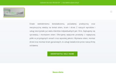 """PPHU """"EKO-PLAST"""" - Bramy garażowe Konopiska"""
