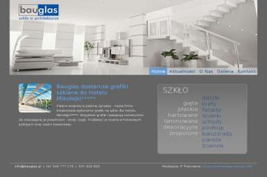 Bauglas - szkło w architekturze - Schody Białystok