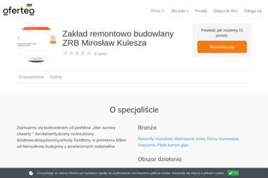 Zakład remontowo budowlany ZRB Mirosław Kulesza - Budowa domów Namysłów