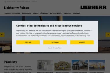 LIEBHERR-POLSKA SPÓŁKA Z OGRANICZONĄ ODPOWIEDZIALNOŚCIĄ - Maszyny budowlane Ruda Śląska