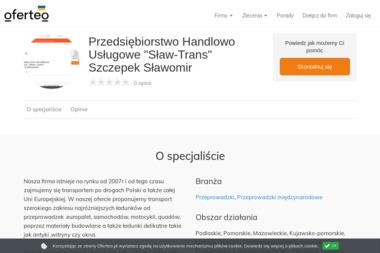 """Przedsiębiorstwo Handlowo Usługowe """"Sław-Trans"""" Szczepek Sławomir - Przeprowadzki międzynarodowe Dębe Wielkie"""