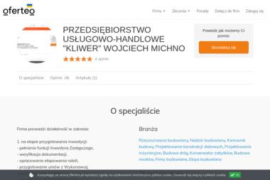 """PRZEDSIĘBIORSTWO USŁUGOWO-HANDLOWE """"KLIWER"""" WOJCIECH MICHNO - Firmy inżynieryjne Kraków"""