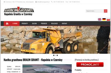 """Braun Granit"" Sp zo.o. Kopalnia Granitu - Gruz Roztoka"