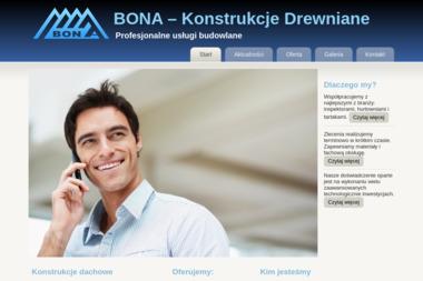 BONA - Konstrukcje Drewniane - Budowa domów Trąbki Wielkie