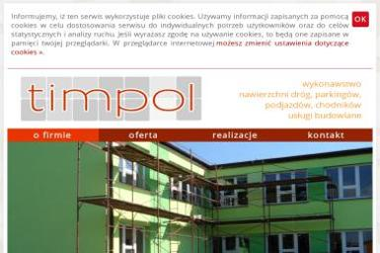 """P.P.U.""""TIMPOL"""" Sp. z o. o. - Budowa dróg Brwinów"""